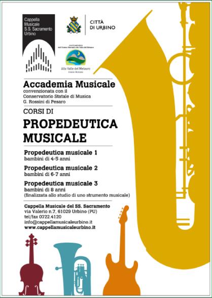 Presentazione dei corsi di Propedeutica Musicale 2019/20
