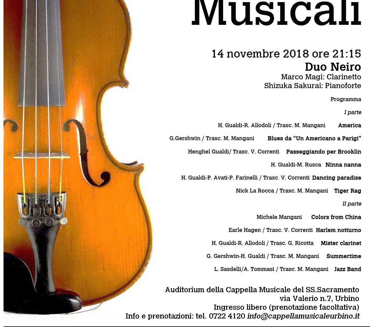 Serate Musicali 14 novembre